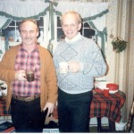 George and Martin Christmas 1988