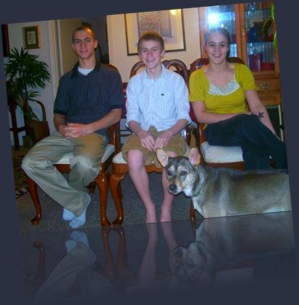 Gary Jr, PJ, Christina - Easter 2008