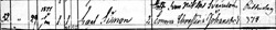 Carl Simon Svennson - Birth Record - Rogberga - 12 29 1876 - cropped
