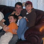 Brad, Max and Gabe at Otter River 2008