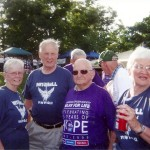 Christine, Phil, Ed and Arlene Walk for 'Relay for Life'