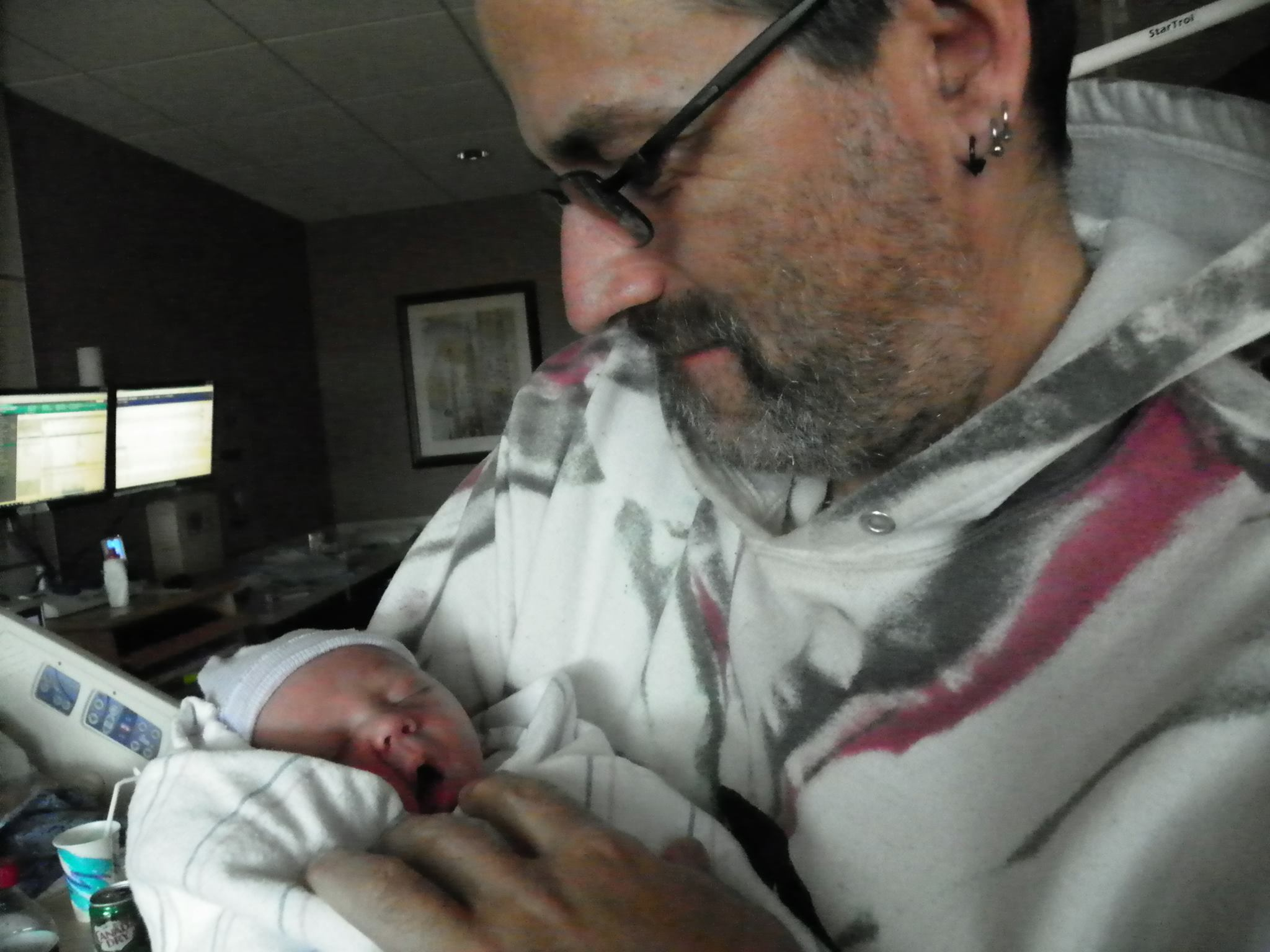 Tom L. with baby Tanner